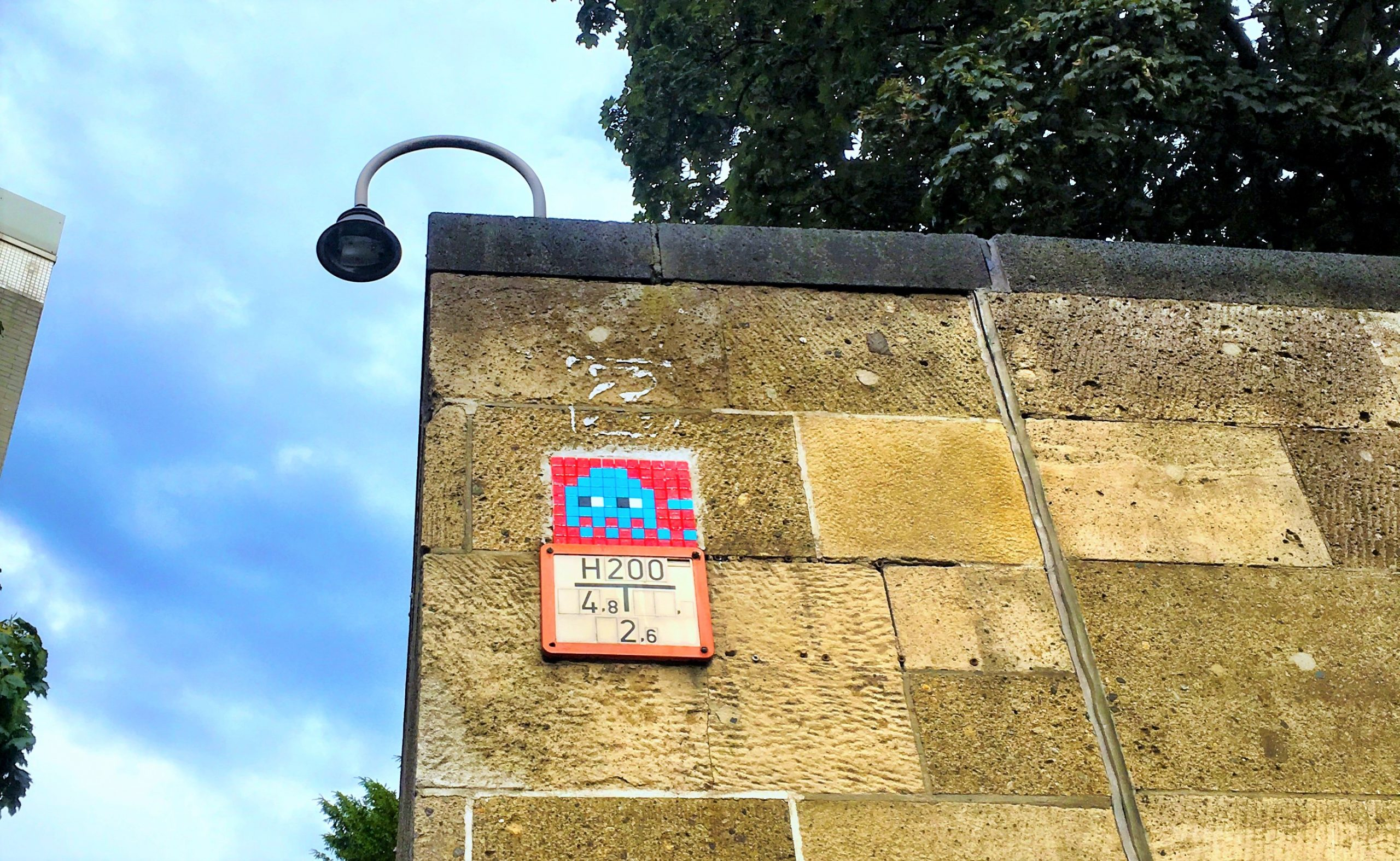 SPACE INVADER by @invaderwashere